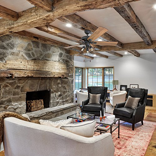 Prominence Home 50745 01 Lincoln Woods Farmhouse Ceiling Fan 3 Speed Remote 52 BarnwoodTumbleweed Aged Bronze 0 3