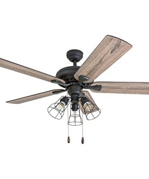 Prominence Home 50745 01 Lincoln Woods Farmhouse Ceiling Fan 3 Speed Remote 52 BarnwoodTumbleweed Aged Bronze 0 300x360