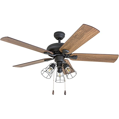 Prominence Home 50745 01 Lincoln Woods Farmhouse Ceiling Fan 3 Speed Remote 52 BarnwoodTumbleweed Aged Bronze 0 5
