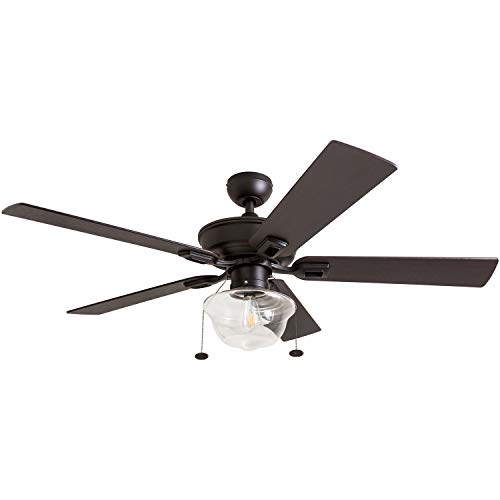 Prominence Home 80091 01 Abner Vintage IndoorOutdoor Ceiling Fan ETL Damp Rated 52 LED Schoolhouse Edison Bulb Rustic FarmhouseBarnwood Blades Espresso Bronze 0 2