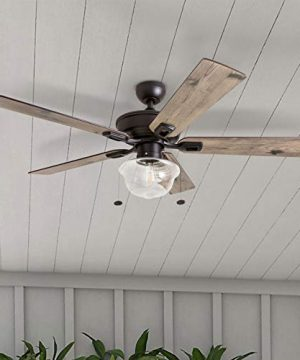 Prominence Home 80091 01 Abner Vintage IndoorOutdoor Ceiling Fan ETL Damp Rated 52 LED Schoolhouse Edison Bulb Rustic FarmhouseBarnwood Blades Espresso Bronze 0 3 300x360