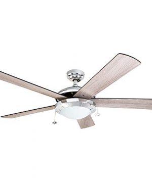 Prominence Home 80100 01 Bolivar Chrome Contemporary Rustic Ceiling Fan 52 LED FarmhouseBarnwood Blades 0 300x360