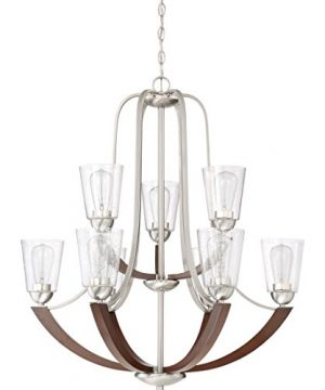 Quoizel HE5009BN Holbeck Wood Chandelier 9 Light 900 Watts Brushed Nickel 34 H X 31 W 0 0 300x360
