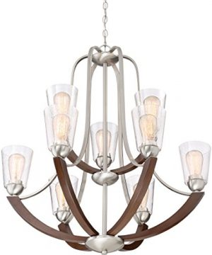 Quoizel HE5009BN Holbeck Wood Chandelier 9 Light 900 Watts Brushed Nickel 34 H X 31 W 0 1 300x360