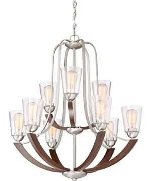 Quoizel HE5009BN Holbeck Wood Chandelier 9 Light 900 Watts Brushed Nickel 34 H X 31 W 0 2 300x360
