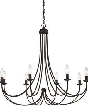 Quoizel MRN5008IB Mirren Farmhouse Chandelier Lighting 8 Light 480 Watts Imperial Bronze 28 H X 32 W 0 0 300x360