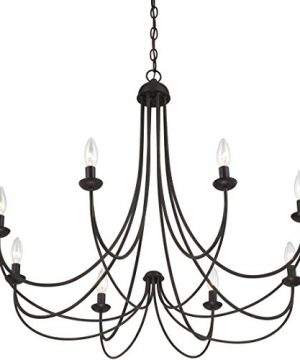 Quoizel MRN5008IB Mirren Farmhouse Chandelier Lighting 8 Light 480 Watts Imperial Bronze 28 H X 32 W 0 1 300x360
