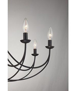 Quoizel MRN5008IB Mirren Farmhouse Chandelier Lighting 8 Light 480 Watts Imperial Bronze 28 H X 32 W 0 2 300x360