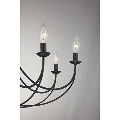 Quoizel MRN5008IB Mirren Farmhouse Chandelier Lighting 8 Light 480 Watts Imperial Bronze 28 H X 32 W 0 2