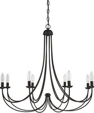 Quoizel MRN5008IB Mirren Farmhouse Chandelier Lighting 8 Light 480 Watts Imperial Bronze 28 H X 32 W 0 3 300x360