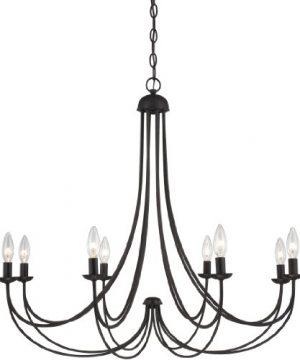 Quoizel MRN5008IB Mirren Farmhouse Chandelier Lighting 8 Light 480 Watts Imperial Bronze 28 H X 32 W 0 300x360