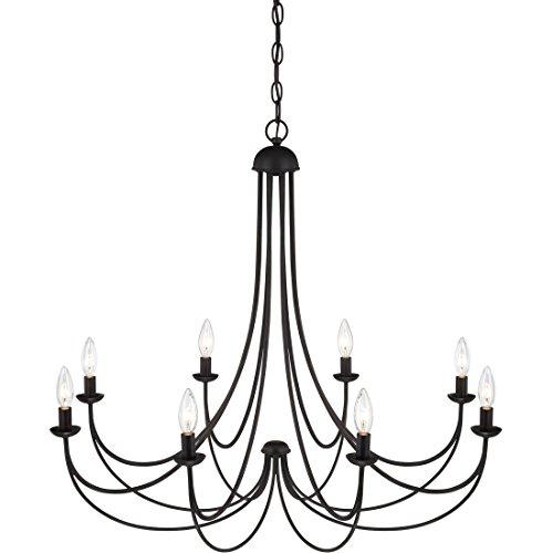 Quoizel MRN5008IB Mirren Farmhouse Chandelier Lighting 8 Light 480 Watts Imperial Bronze 28 H X 32 W 0 4