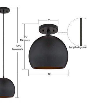 Rollino Pendant Light Black Pendant Lighting For Kitchen Island LL P408 5BLK 0 1 300x360