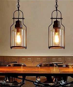 SUSUO Lighting 6 Wide Vintage Industrial Glass Pendant Ceiling Hanging Light With Cylinder Glass ShadeAntique Copper Finish 0 300x360