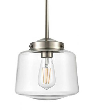 Scolare Vintage Pendant Light Brushed Nickel Kitchen Island Light With LED Bulb LL P274 BN 0 300x360