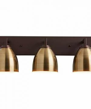 Stone Beam Contemporary 3 Shade Bathroom Vanity Fixture With Light Bulbs 2425 X 75 X 925 Inches Oil Rubbed Bronze 0 0 300x360