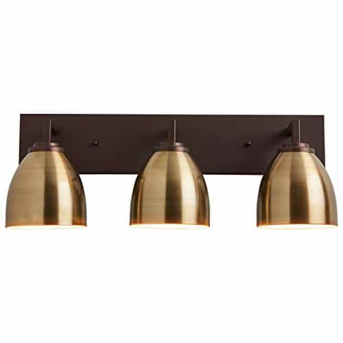Stone Beam Contemporary 3 Shade Bathroom Vanity Fixture With Light Bulbs 2425 X 75 X 925 Inches Oil Rubbed Bronze 0 0