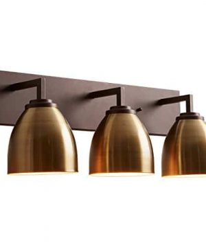 Stone Beam Contemporary 3 Shade Bathroom Vanity Fixture With Light Bulbs 2425 X 75 X 925 Inches Oil Rubbed Bronze 0 2 300x360