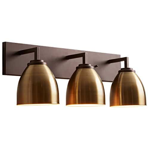 Stone Beam Contemporary 3 Shade Bathroom Vanity Fixture With Light Bulbs 2425 X 75 X 925 Inches Oil Rubbed Bronze 0 2