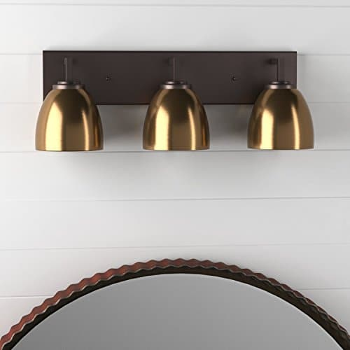 Stone Beam Contemporary 3 Shade Bathroom Vanity Fixture With Light Bulbs 2425 X 75 X 925 Inches Oil Rubbed Bronze 0 4
