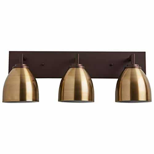 Stone Beam Contemporary 3 Shade Bathroom Vanity Fixture With Light Bulbs 2425 X 75 X 925 Inches Oil Rubbed Bronze 0