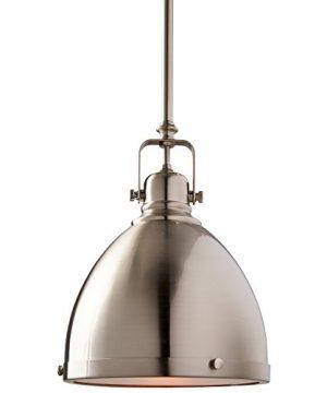 Stone Beam Hood Pendant Light 13 61H Brushed Nickel 0 1 300x360