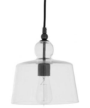 Stone Beam Modern Black Pendant Light 42H Glass Shade 0 300x360