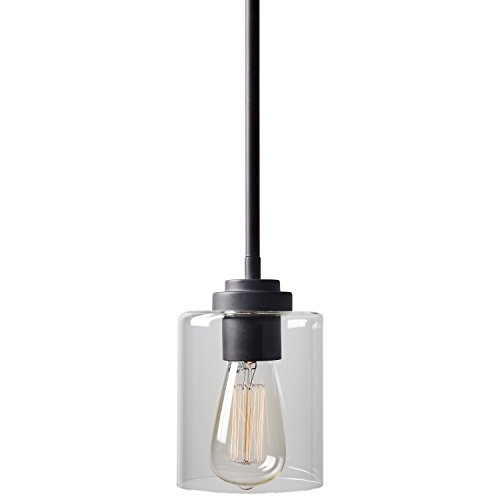 Stone Beam Modern Cylinder Pendant Light With Bulb 10 58H Oil Rubbed Bronze 0 1