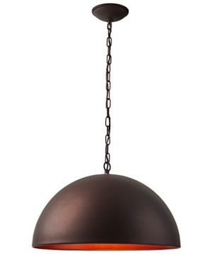 Stone Beam Modern Dome Pendant Light With Bulb 1125 60H Oil Rubbed Bronze 0 0 300x360