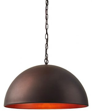 Stone Beam Modern Dome Pendant Light With Bulb 1125 60H Oil Rubbed Bronze 0 1 300x360