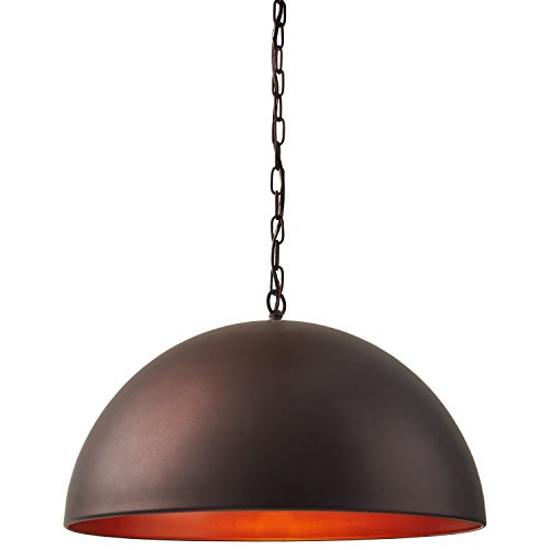 Stone Beam Modern Dome Pendant Light With Bulb 1125 60H Oil Rubbed Bronze 0 1