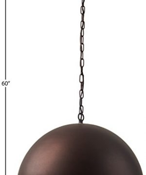 Stone Beam Modern Dome Pendant Light With Bulb 1125 60H Oil Rubbed Bronze 0 2 300x360