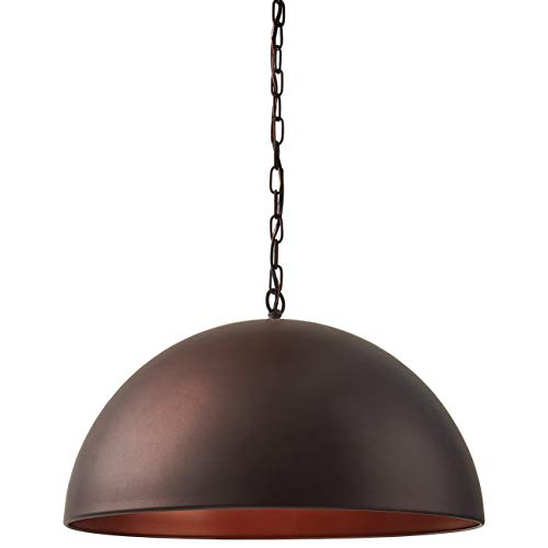 Stone Beam Modern Dome Pendant Light With Bulb 1125 60H Oil Rubbed Bronze 0