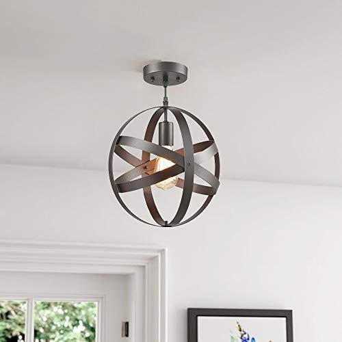 Truelite Industrial Metal Spherical Pendant Displays Changeable Hanging Lighting Fixture 0 0