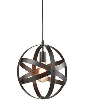 Truelite Industrial Metal Spherical Pendant Displays Changeable Hanging Lighting Fixture 0 300x360