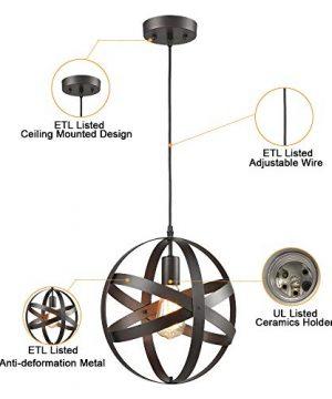 Truelite Industrial Metal Spherical Pendant Displays Changeable Hanging Lighting Fixture 0 4 300x360