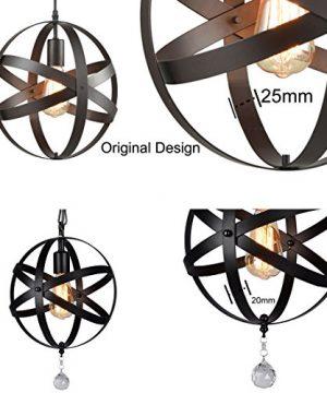 Truelite Industrial Metal Spherical Pendant Displays Changeable Hanging Lighting Fixture 0 5 300x360