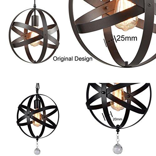 Truelite Industrial Metal Spherical Pendant Displays Changeable Hanging Lighting Fixture 0 5