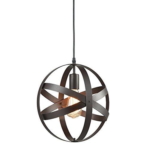 Truelite Industrial Metal Spherical Pendant Displays Changeable Hanging Lighting Fixture 0