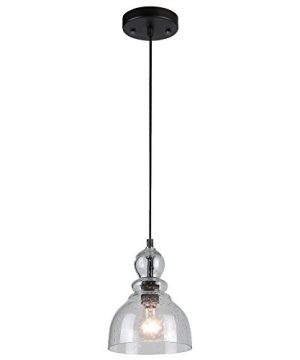 Westinghouse Lighting 6100800 Adjustable Indoor Mini Pendant Light Oil Rubbed Bronze Finish With Handblown Clear Seeded Glass 0 300x360