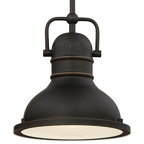 Westinghouse Lighting 63082A Boswell One Light LED Indoor Mini Pendant Oil Rubbed Bronze Finish With Highlights And Frosted Prismatic Lens 0 0