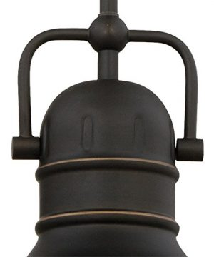 Westinghouse Lighting 63082A Boswell One Light LED Indoor Mini Pendant Oil Rubbed Bronze Finish With Highlights And Frosted Prismatic Lens 0 1 300x360