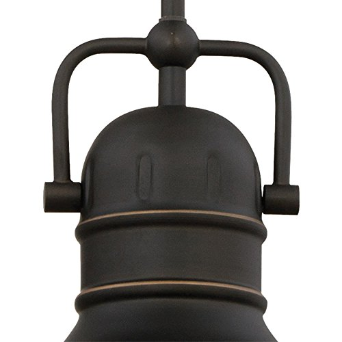 Westinghouse Lighting 63082A Boswell One Light LED Indoor Mini Pendant Oil Rubbed Bronze Finish With Highlights And Frosted Prismatic Lens 0 1