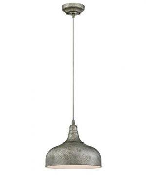 Westinghouse Lighting 6330100 One Light Indoor Pendant Antique Steel Finish With Metal Shade 0 300x360
