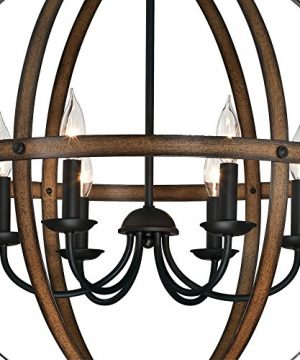 Westinghouse Lighting 6333600 Stella Mira Six Light Indoor Chandelier Barnwood And Oil Rubbed Bronze Finish 0 0 300x360