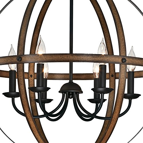 Westinghouse Lighting 6333600 Stella Mira Six Light Indoor Chandelier Barnwood And Oil Rubbed Bronze Finish 0 0
