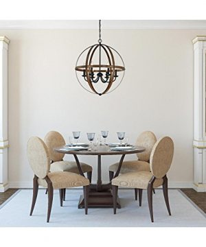 Westinghouse Lighting 6333600 Stella Mira Six Light Indoor Chandelier Barnwood And Oil Rubbed Bronze Finish 0 1 300x360