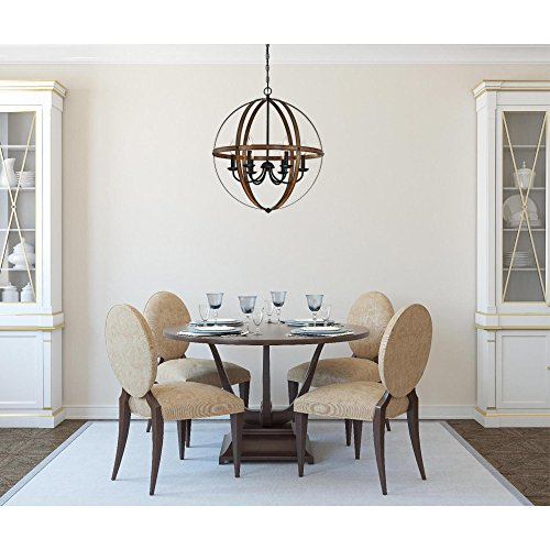 Westinghouse Lighting 6333600 Stella Mira Six Light Indoor Chandelier Barnwood And Oil Rubbed Bronze Finish 0 1