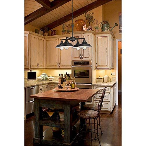 Westinghouse Lighting 6343300 Iron Hill Four Light Indoor Convertible ChandelierSemi Flush Ceiling Fixture Oil Rubbed Bronze Finish With Highlights And Metal Shades White Interior 0 0