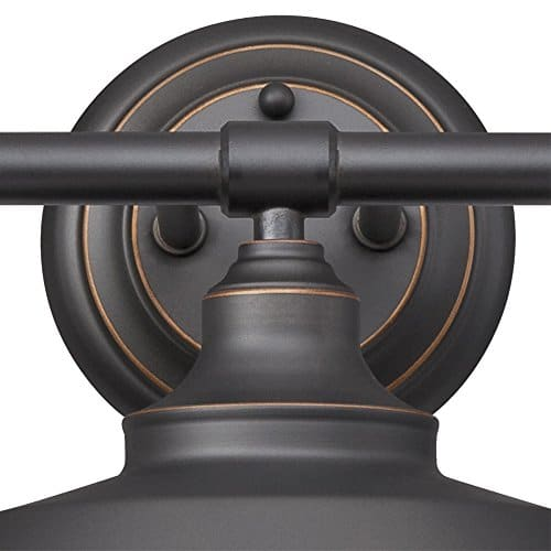 Westinghouse Lighting 6343400 Iron Hill Three Light Indoor Wall Fixture Oil Rubbed Bronze Finish With Highlights And Metal Shades 3 White Interior 0 0